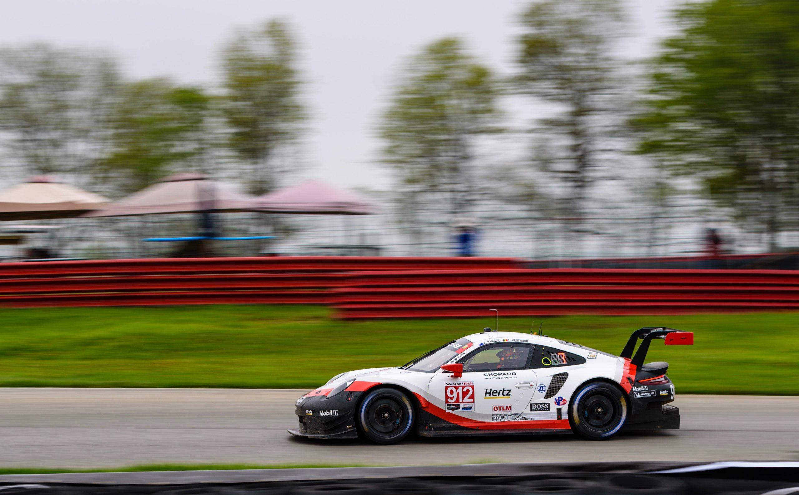 Porsche 911 RSR Mid Ohio Side Profile Action