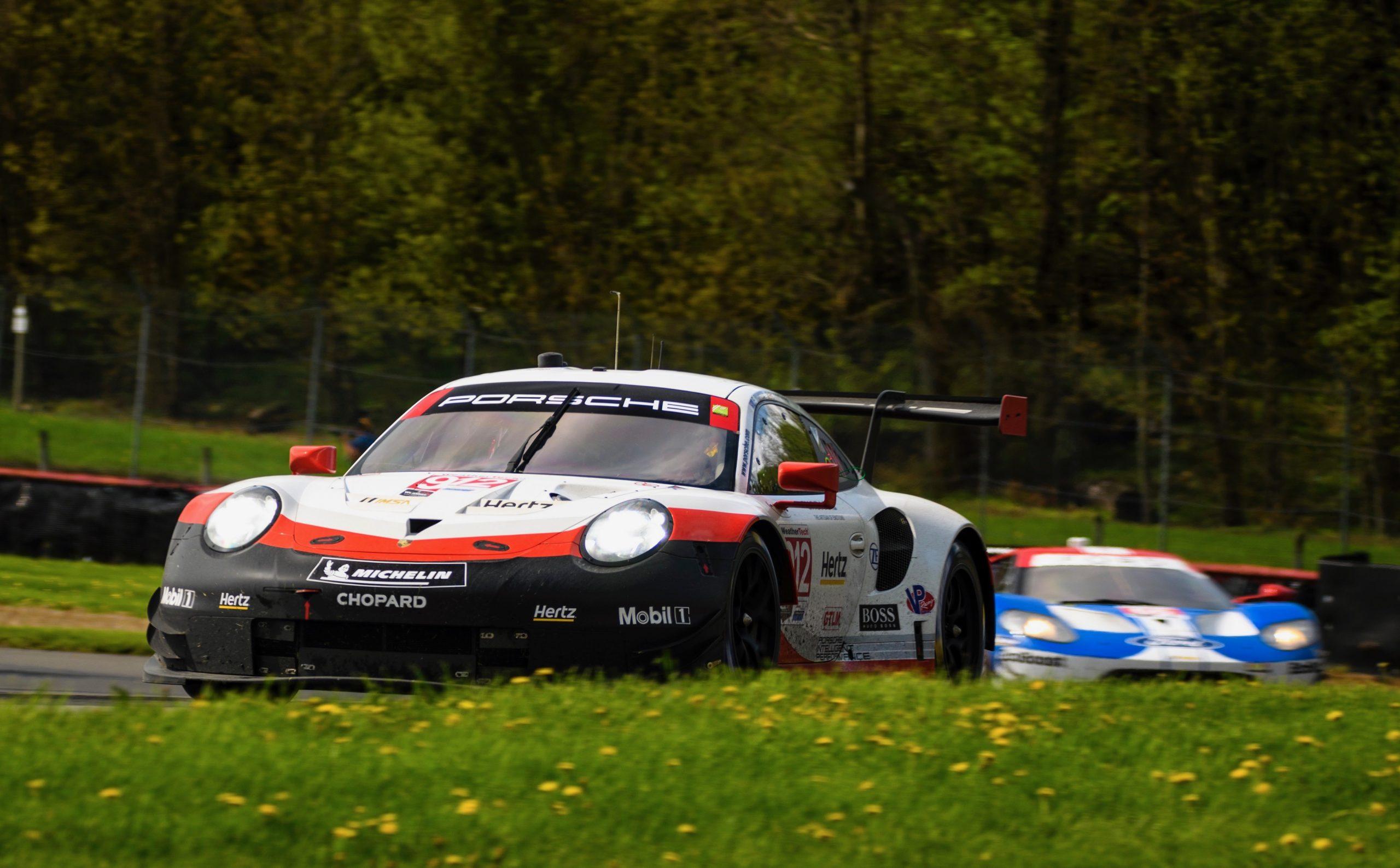Porsche 911 RSR Mid Ohio Front Three-Quarter Action