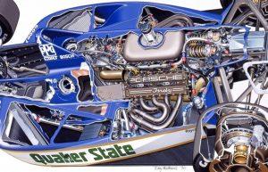 Porsche 2708 Indy Car Cutaway