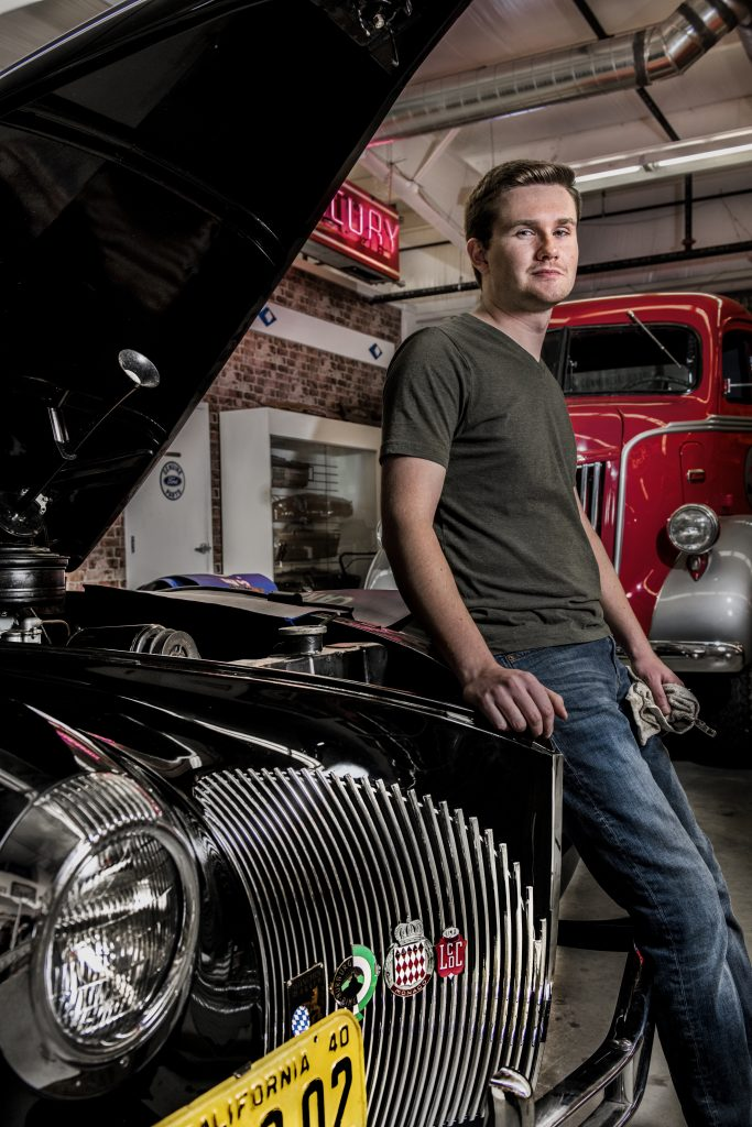 Lucas Cauley With Classic Car