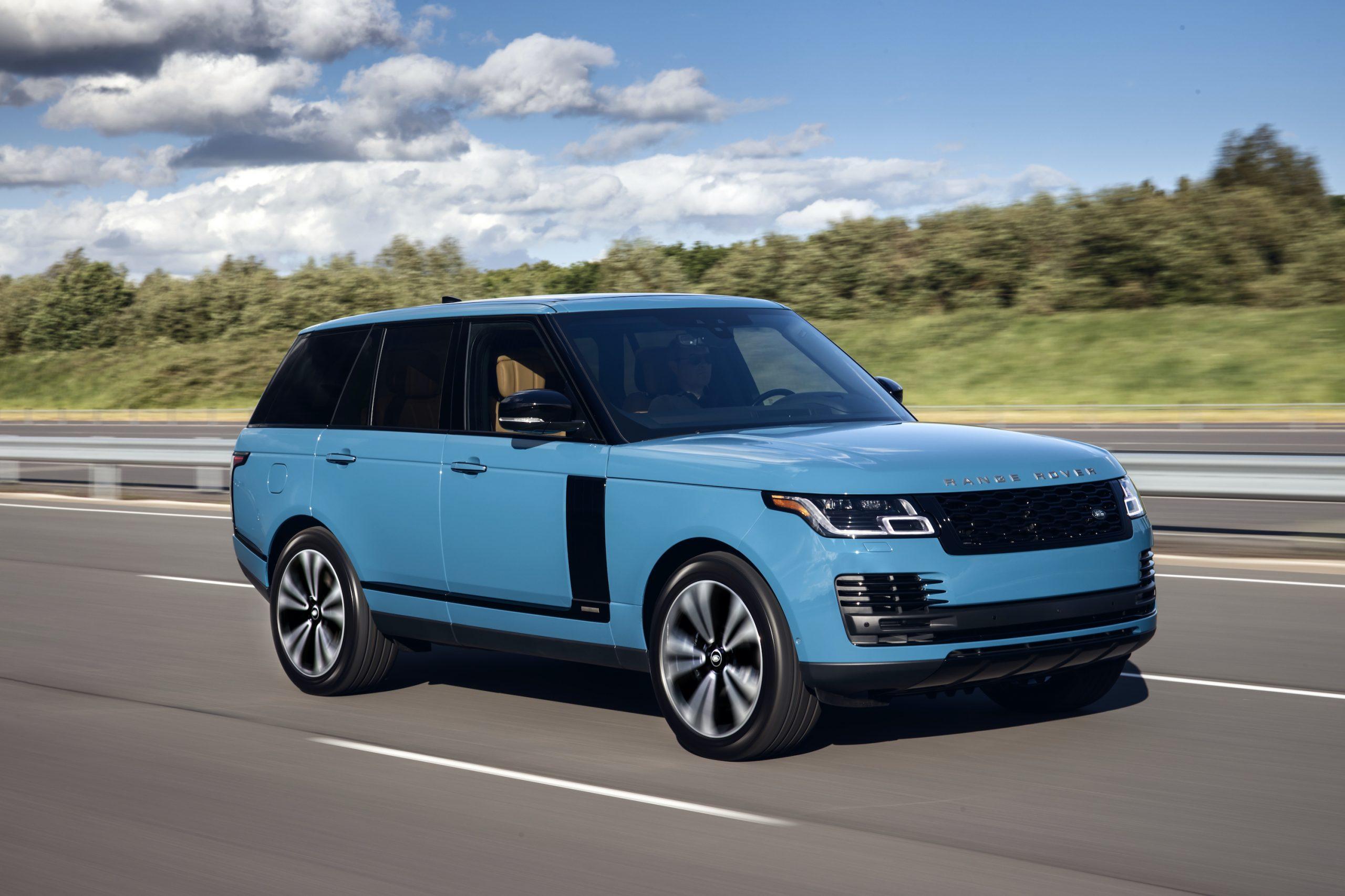 2021 Range Rover Front Three-Quarter Road Action