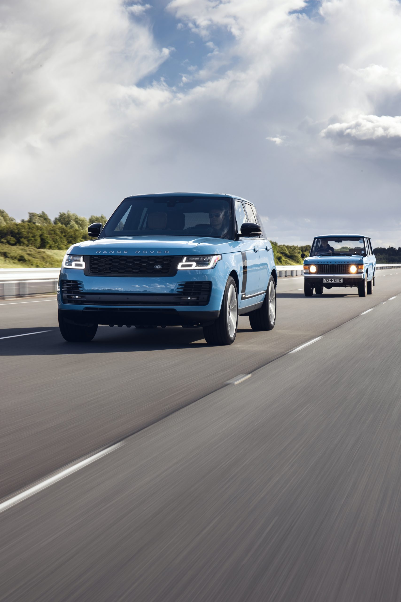 Range Rover 50th SUVs Road Action Vertical