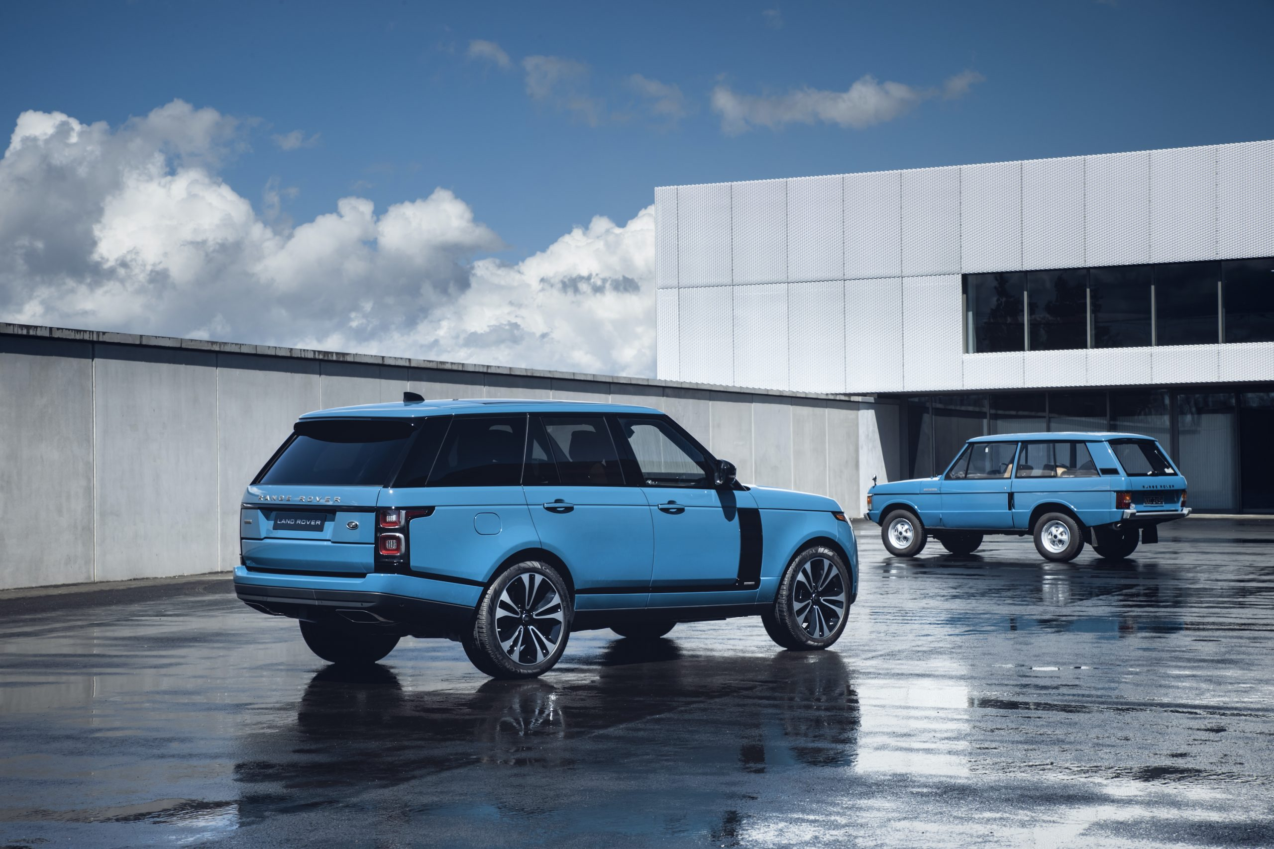 Range Rover New And Classic Rear Three-Quarter