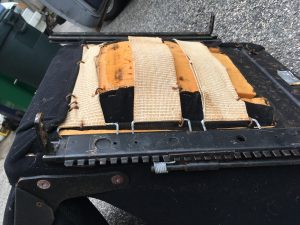 Rob Siegel - Sorting out a car - Underside of worn-out seat
