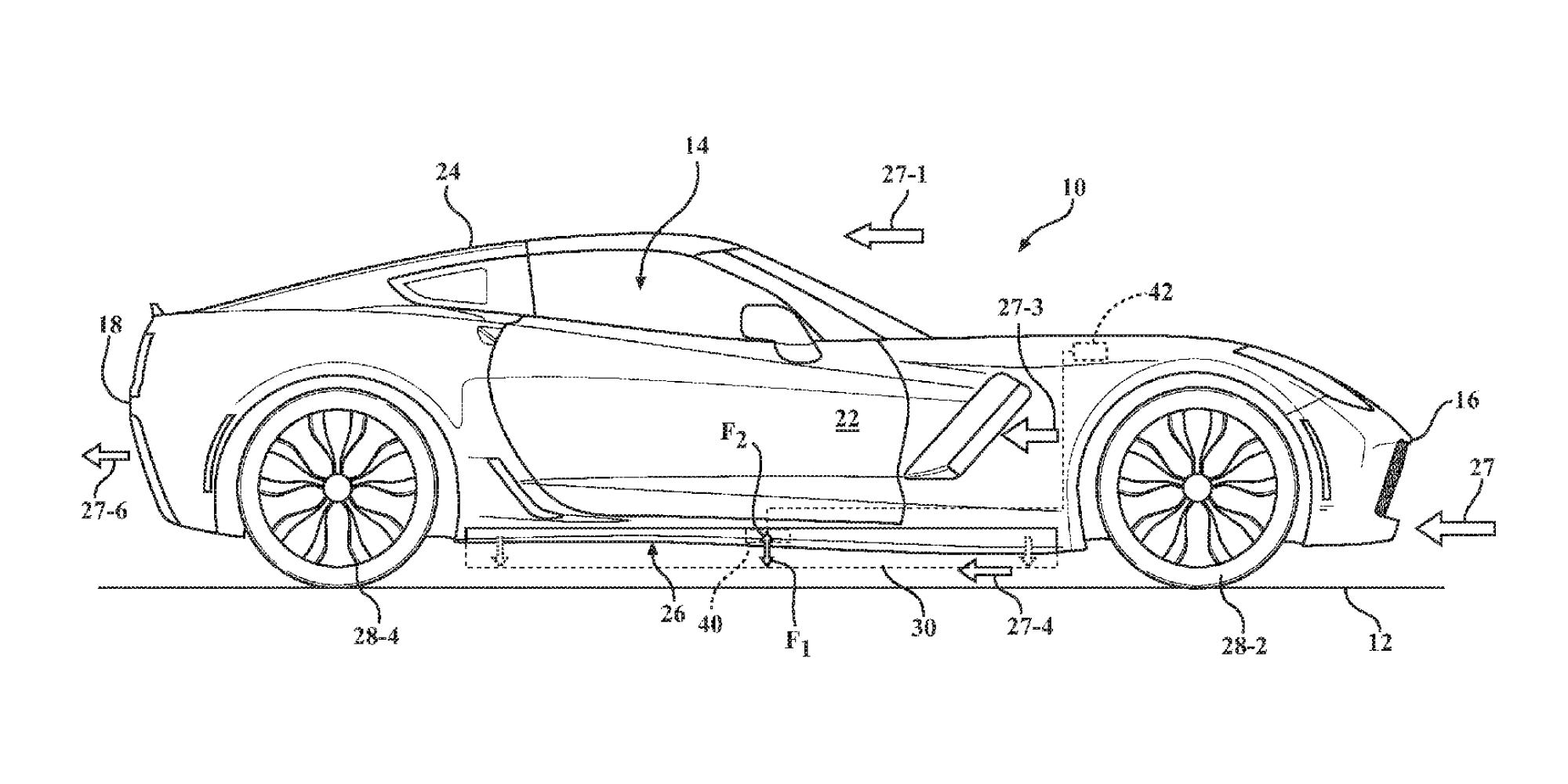 Corvette active aero patent 2018