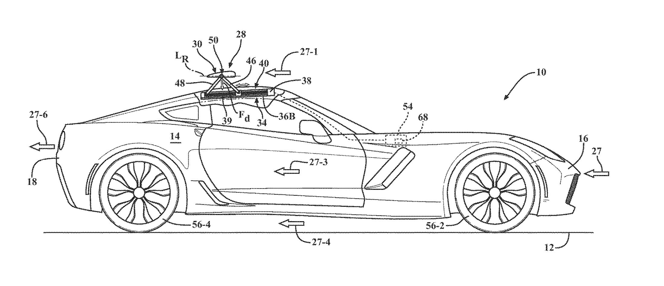 Corvette active aero patent