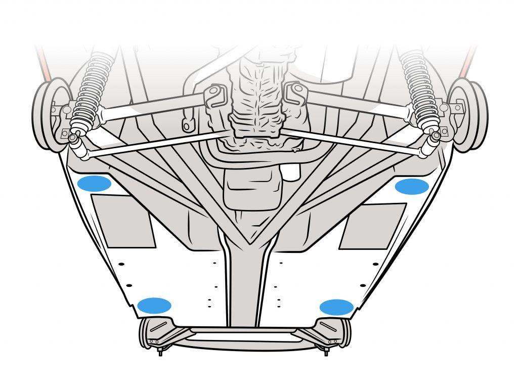 Lotus Underside Jack Points Illustration