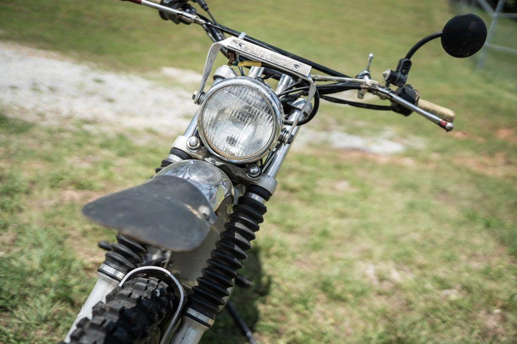 Vintage Triumph Motorcycle Front