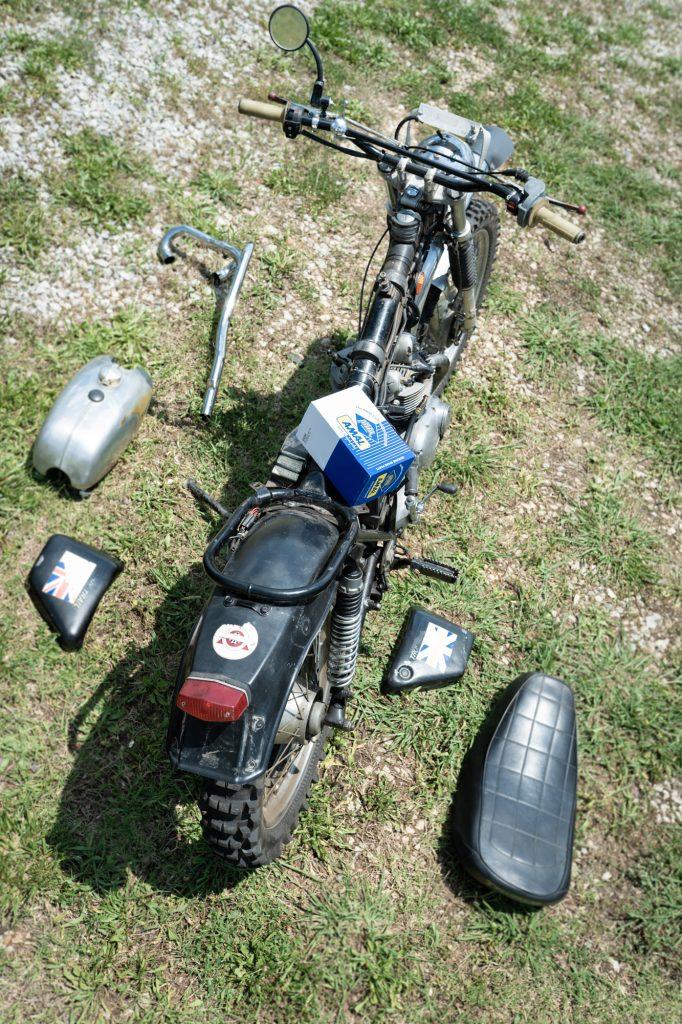 Vintage Triumph Motorcycle Overhead