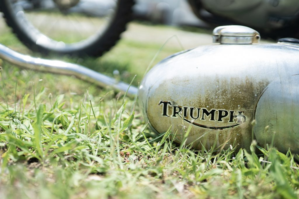 Vintage Triumph Motorcycle Tank Logo