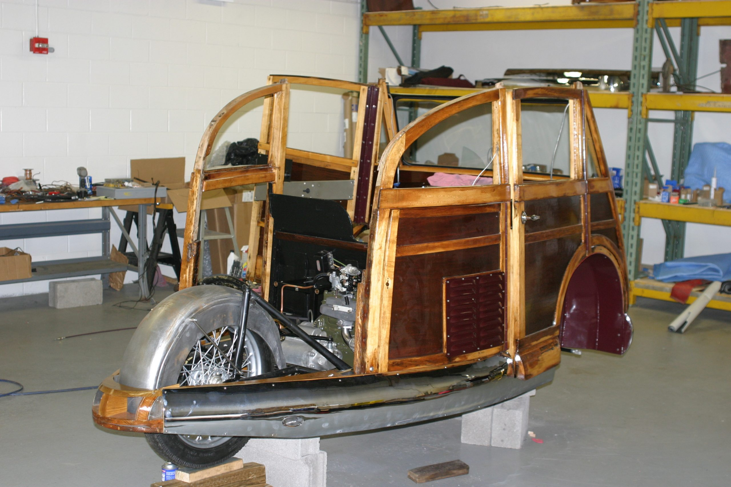 Stationette Restoration Body Rear Three-Quarter