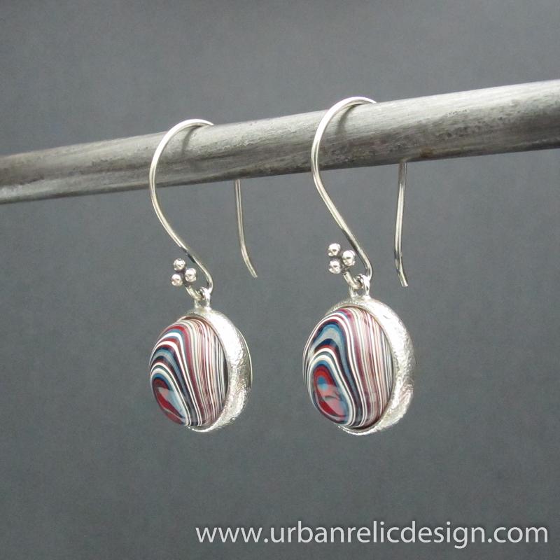 Fordite earrings