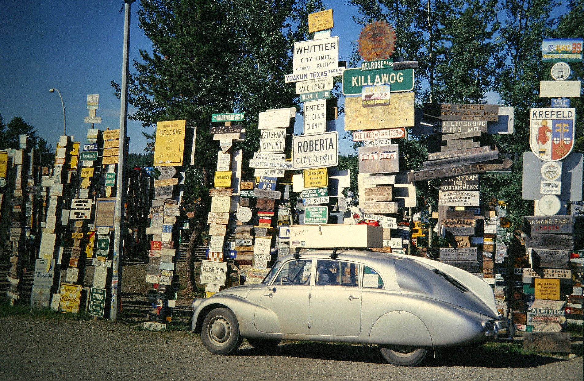 Tatra Beside Road Sign Collection