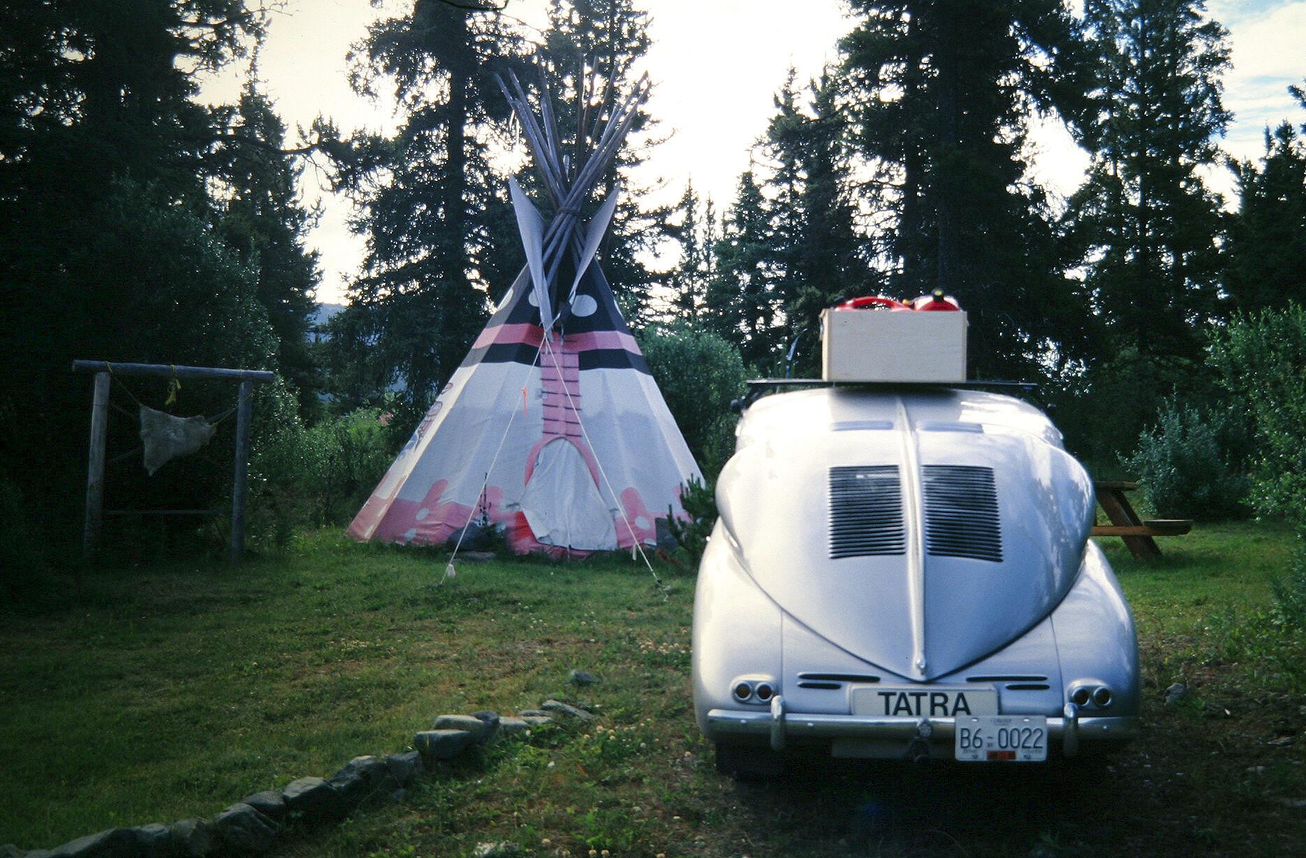 Tatra Parked By Tipi