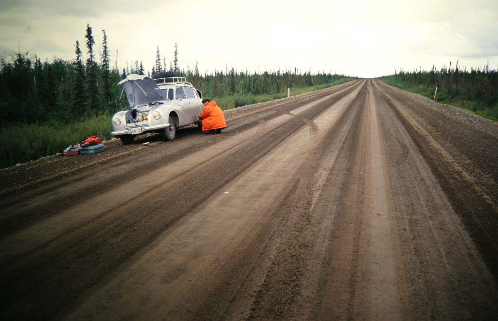 Tatra Repair On Dirt Road