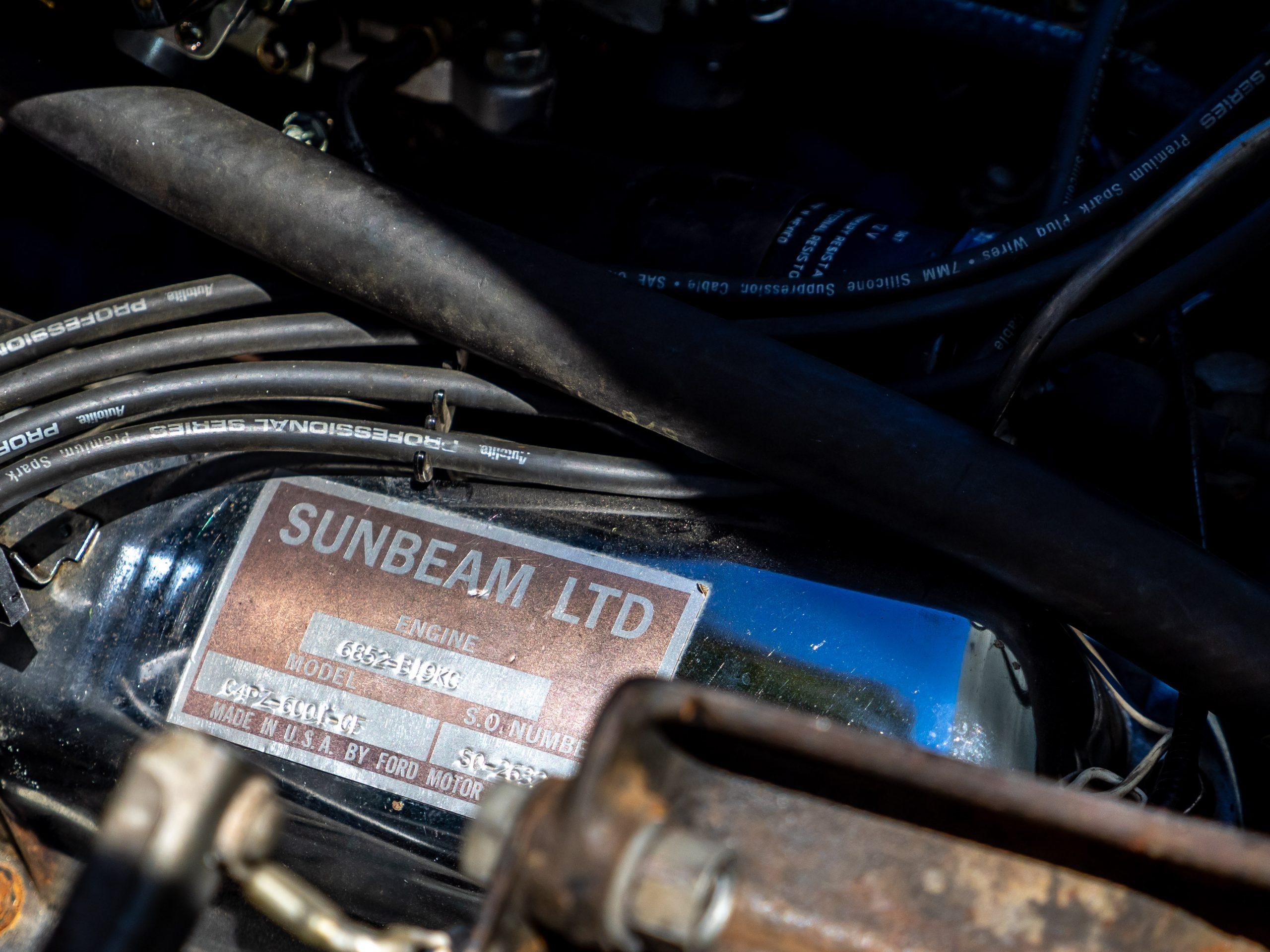 Sunbeam Tiger Engine Model