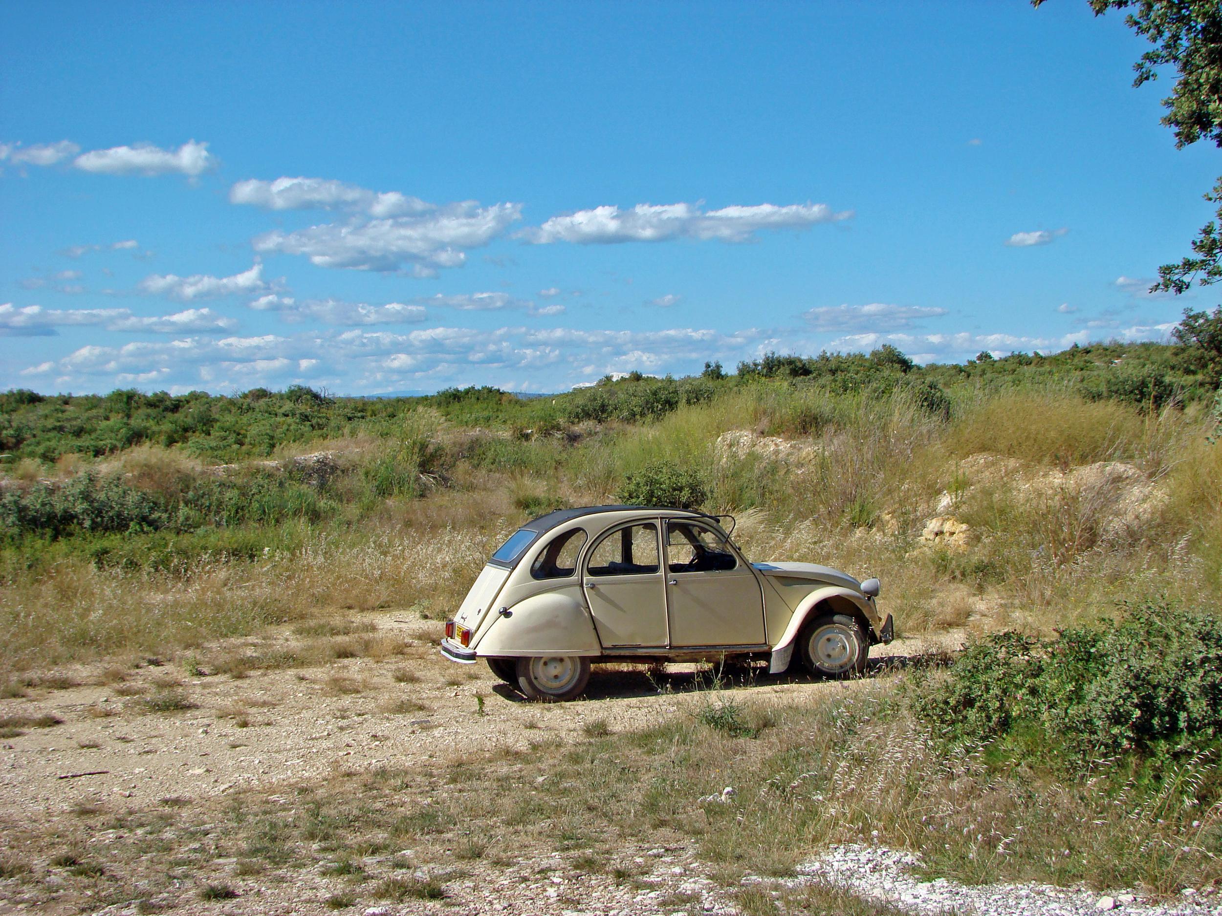1978 Citroen 2cv in countryside