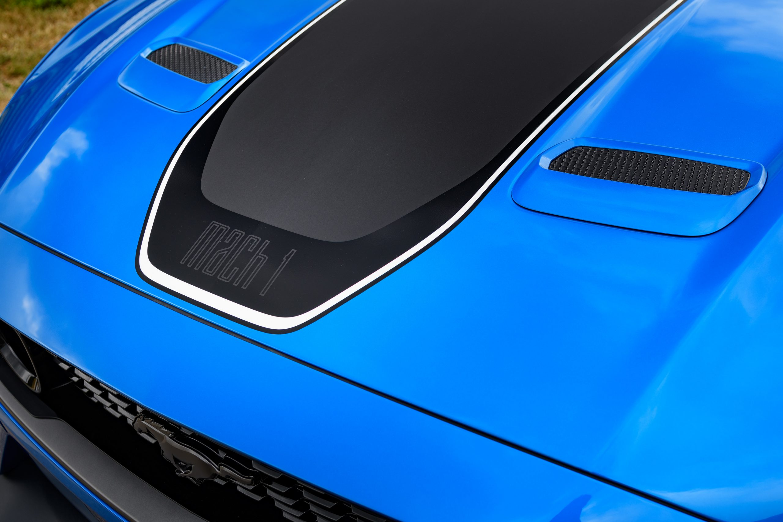 2021 Ford Mustang Mach 1 logo hood graphic