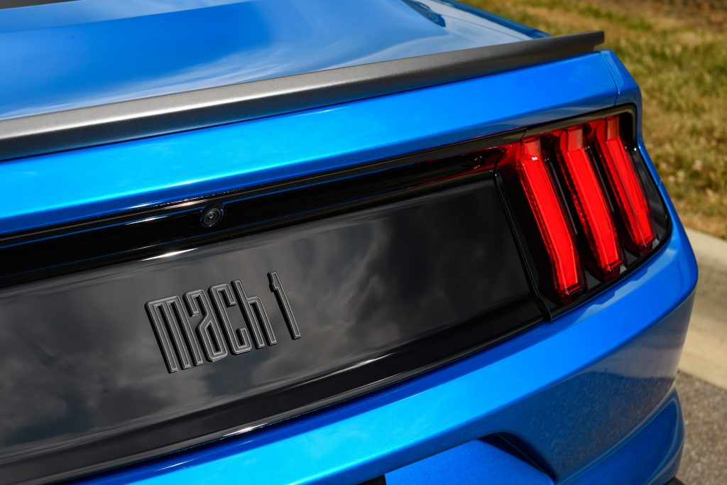 2021 Ford Mustang Mach 1 logo tail panel