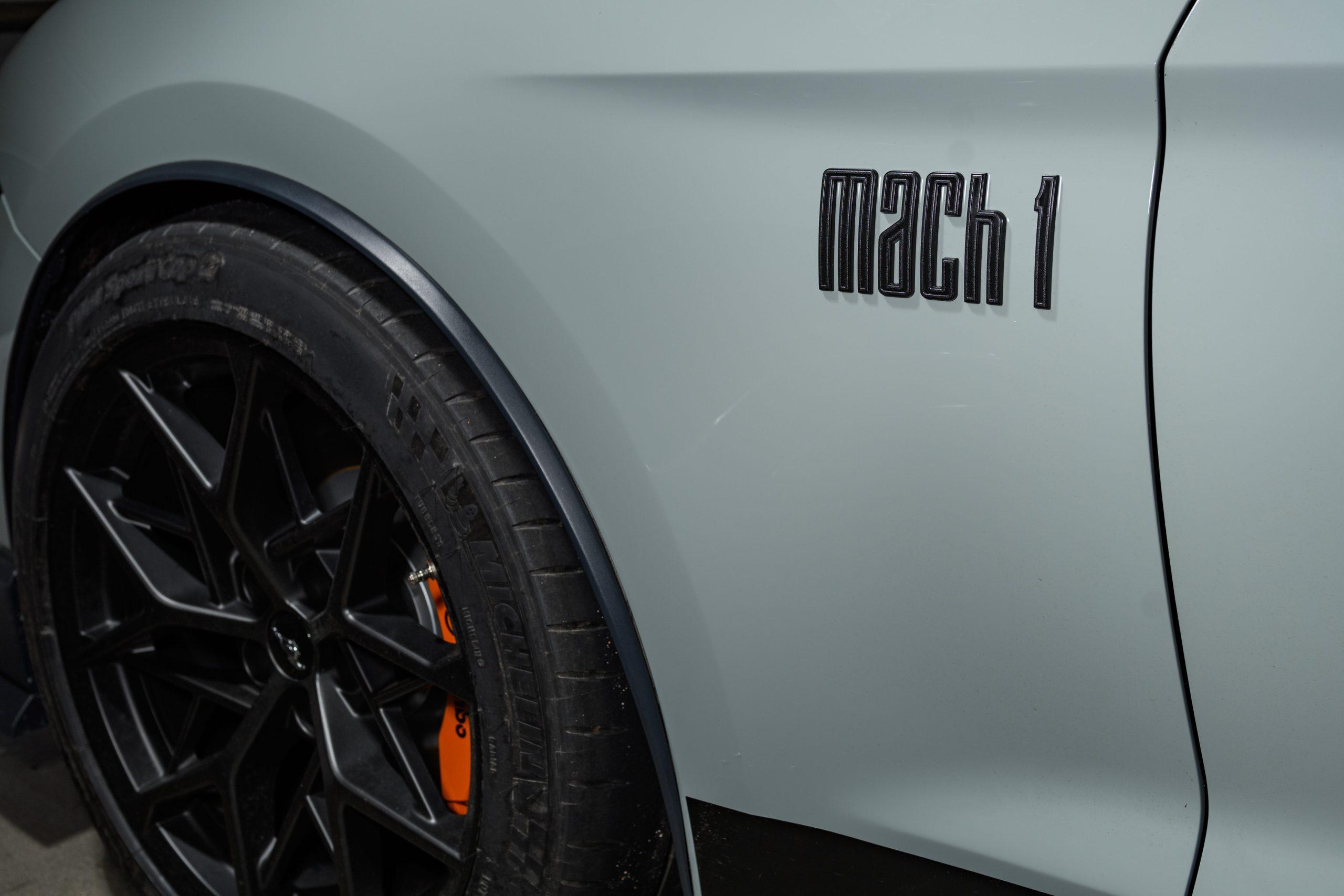 2021 Ford Mustang Mach 1 logo fender