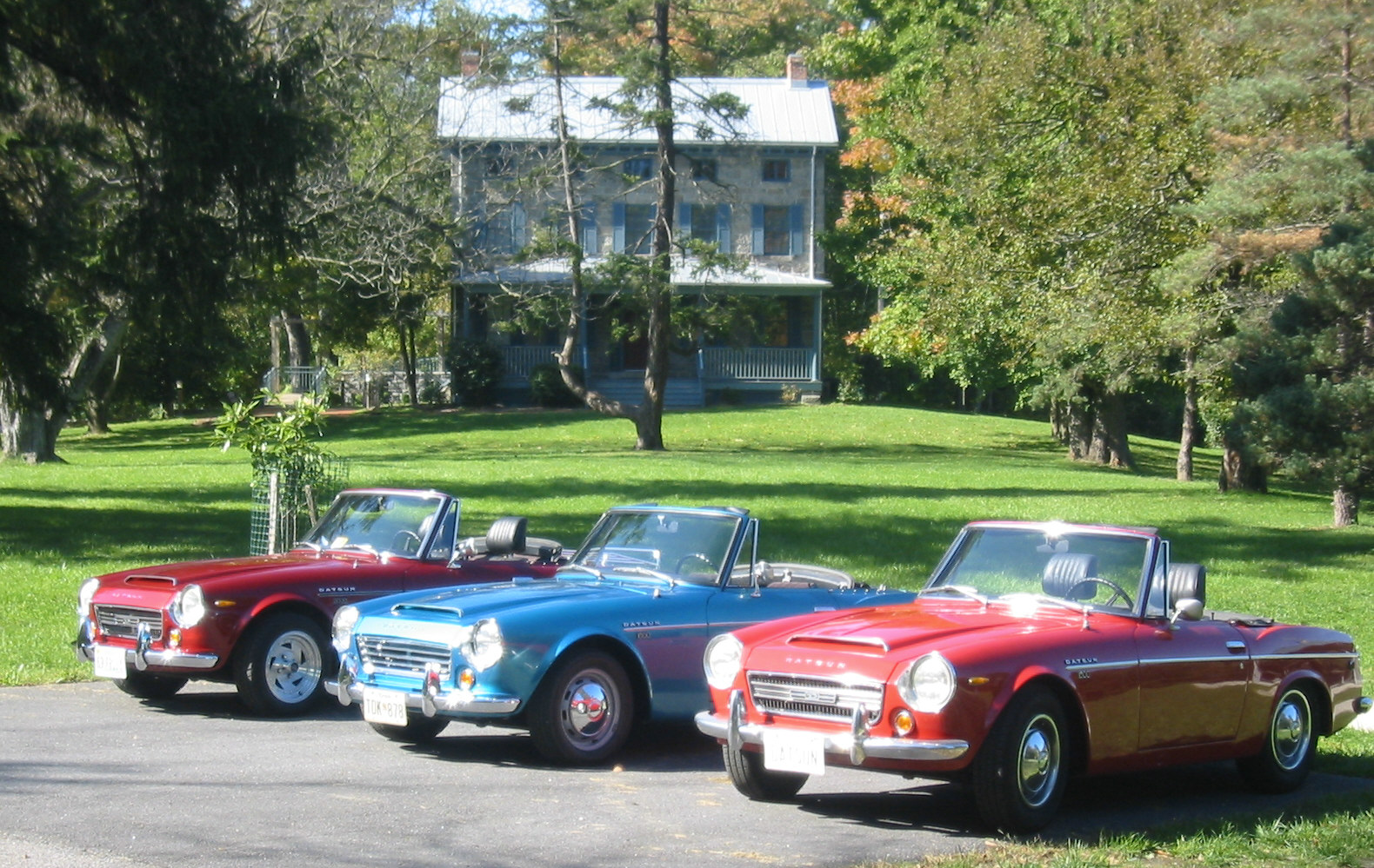 group of Datsuns old house