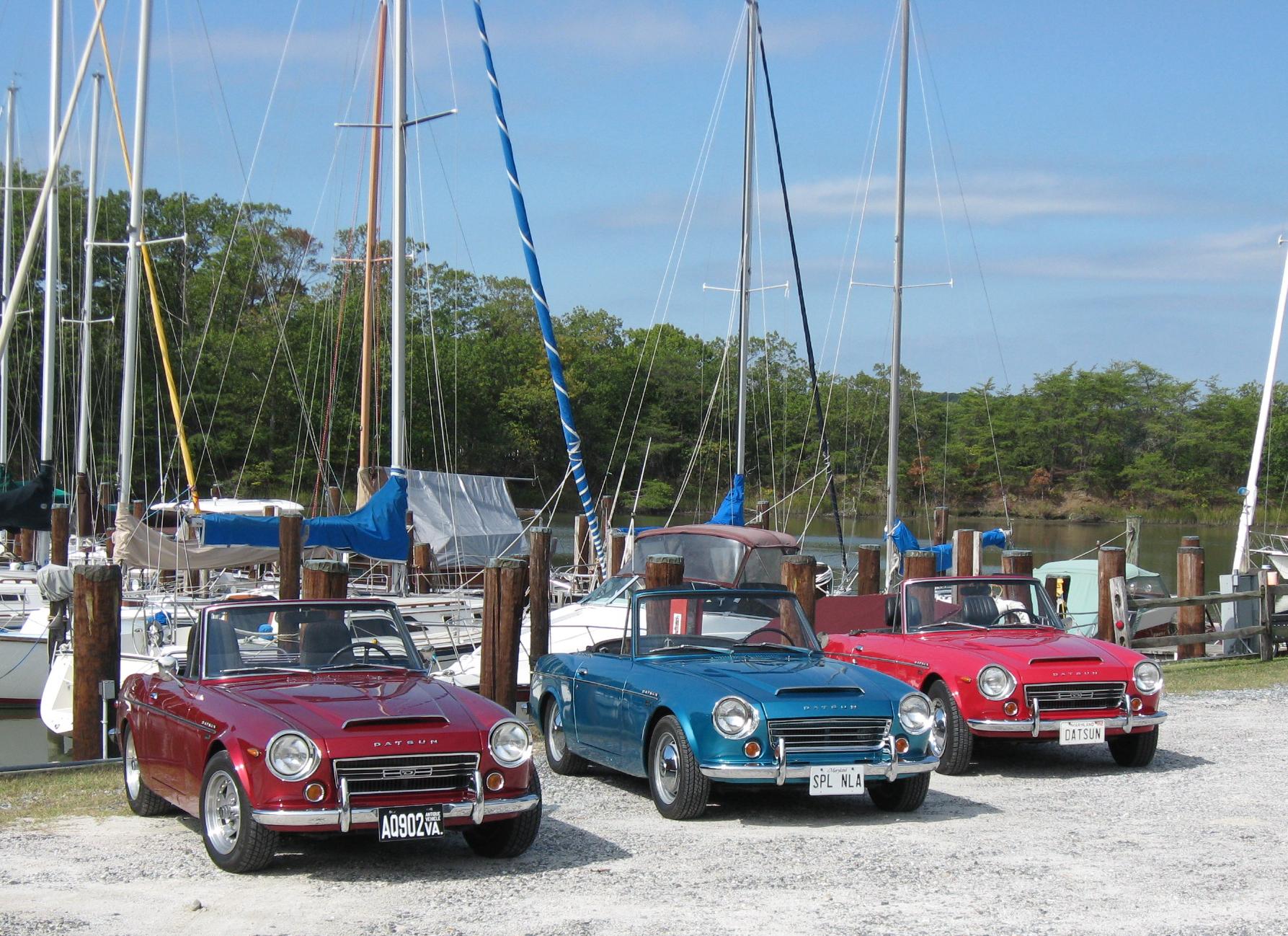 Datsun roadsters at marina