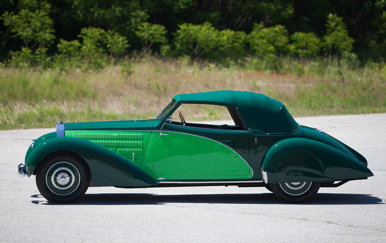 1938 Bugatti Type 57 Cabriolet Coachwork by Letourneur et Marchand two-tone paint