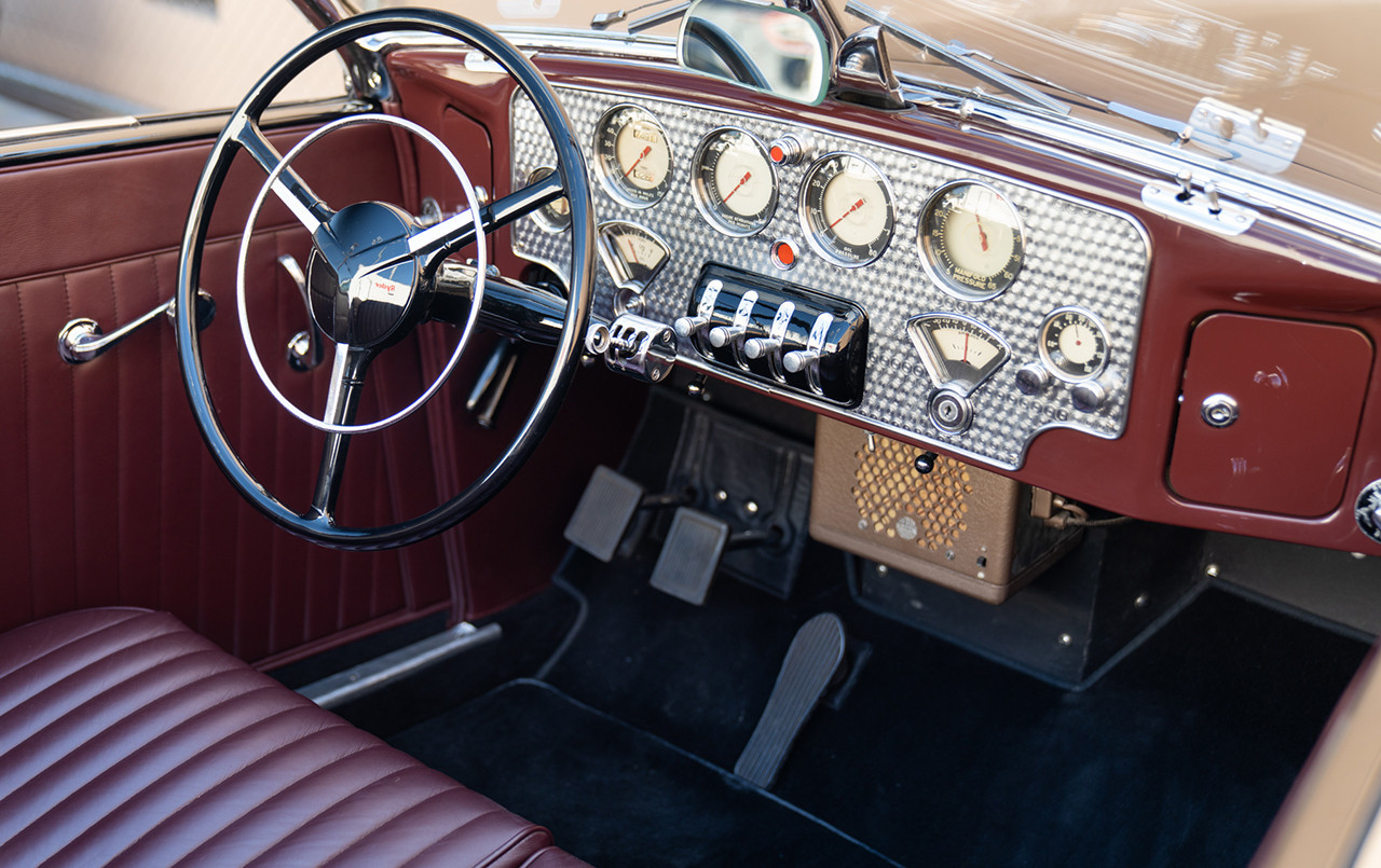 1937 Cord 812 S/C Phaeton turned aluminum dash