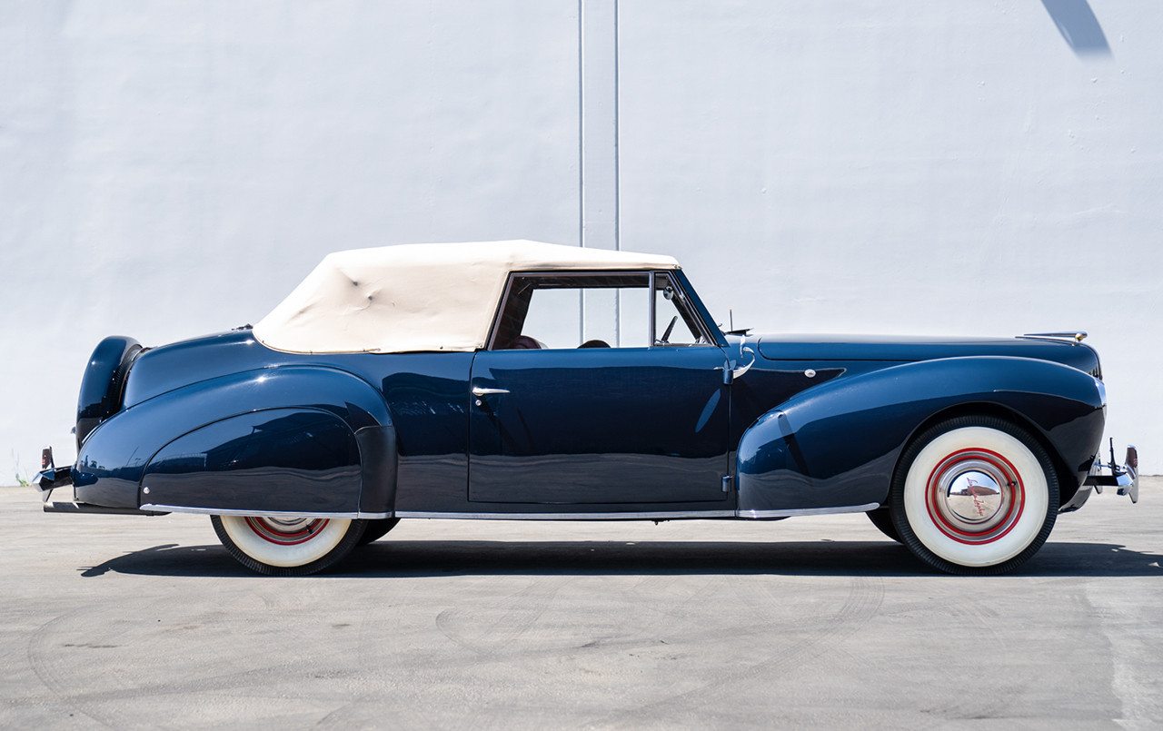 1940 Lincoln-Zephyr Continental Convertible profile