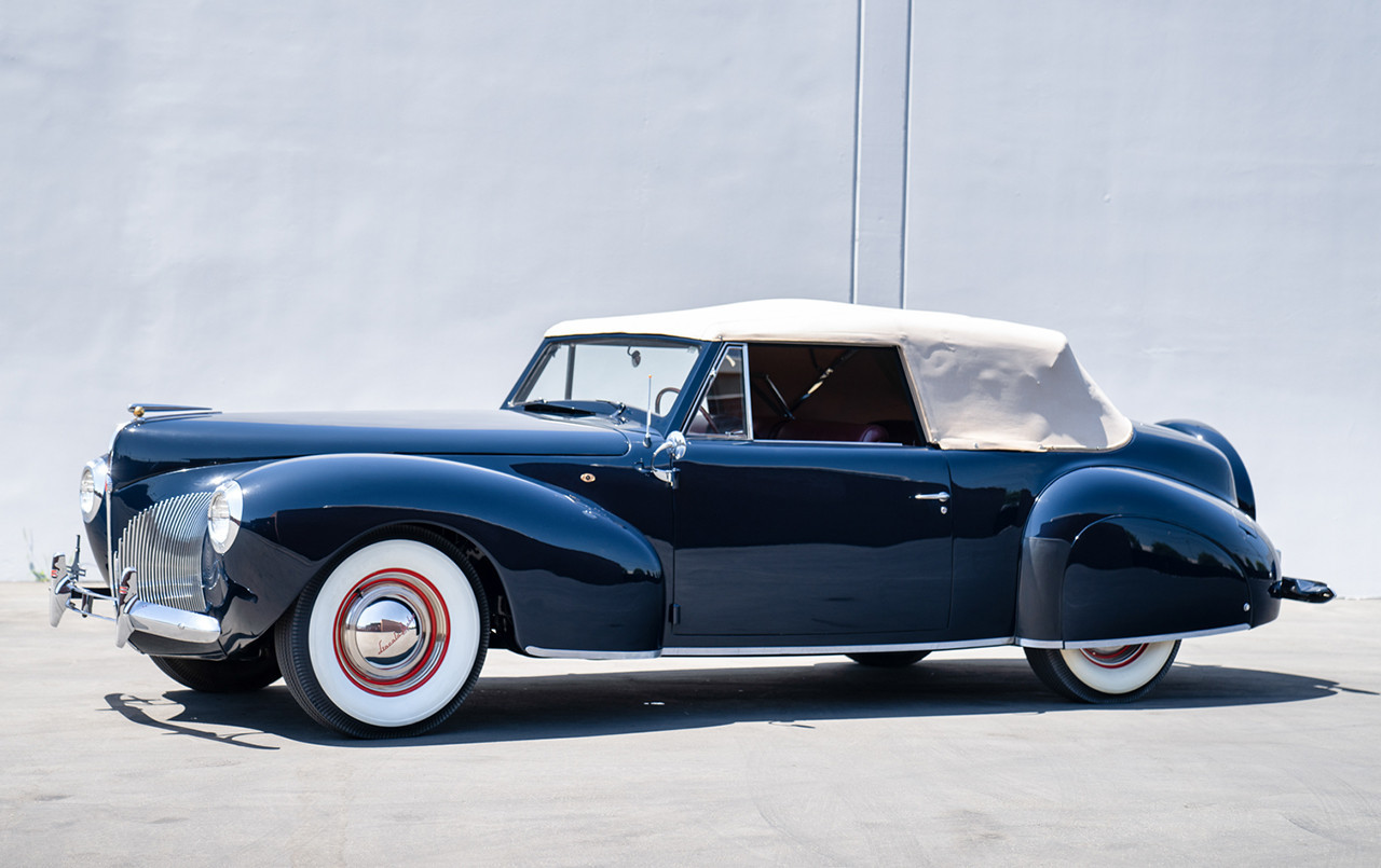 1940 Lincoln-Zephyr Continental Convertible front three quarter
