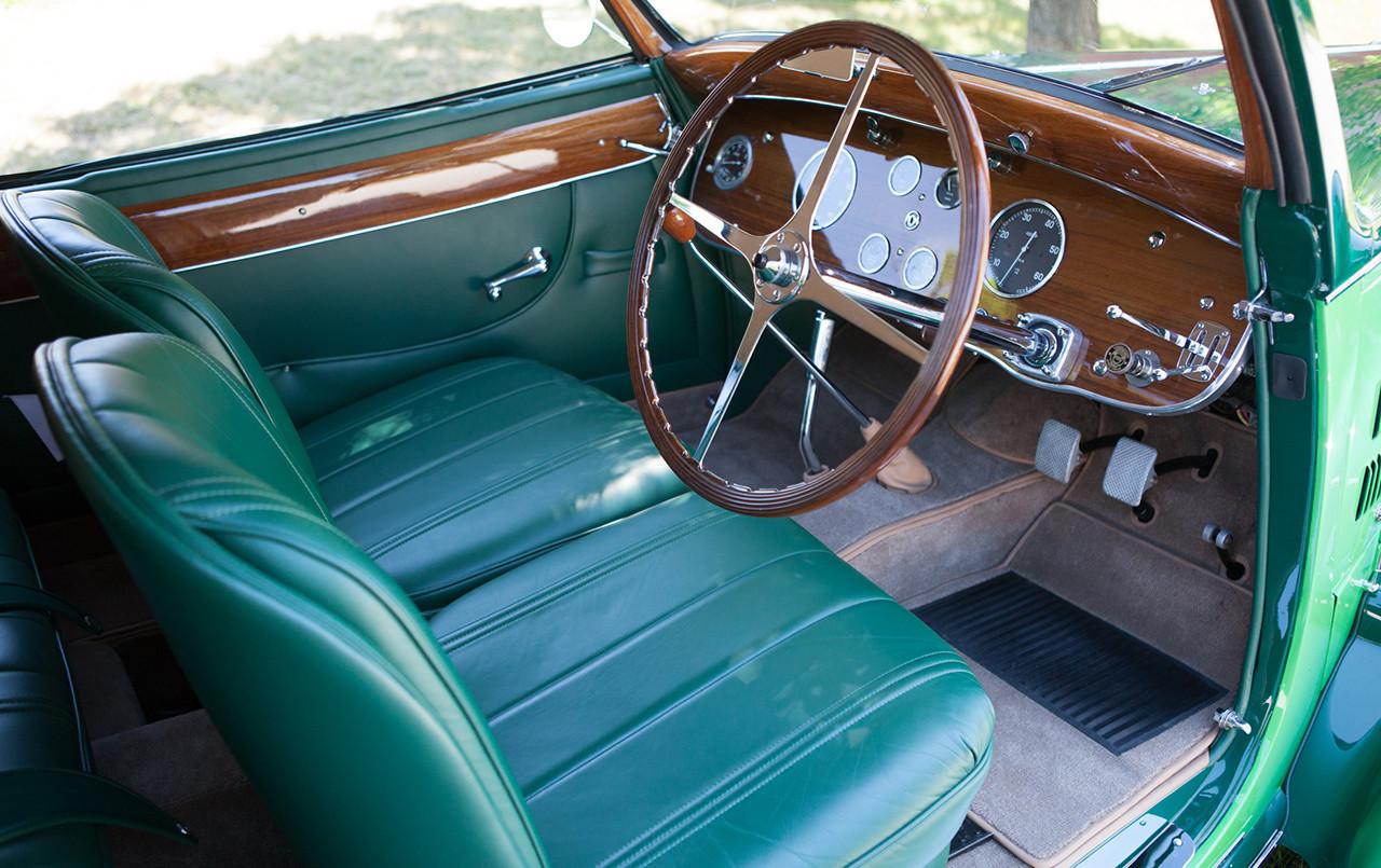 1938 Bugatti Type 57 Cabriolet Coachwork by Letourneur et Marchand interior