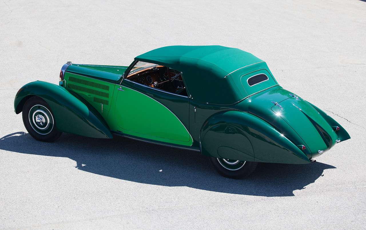 1938 Bugatti Type 57 Cabriolet Coachwork by Letourneur et Marchand above