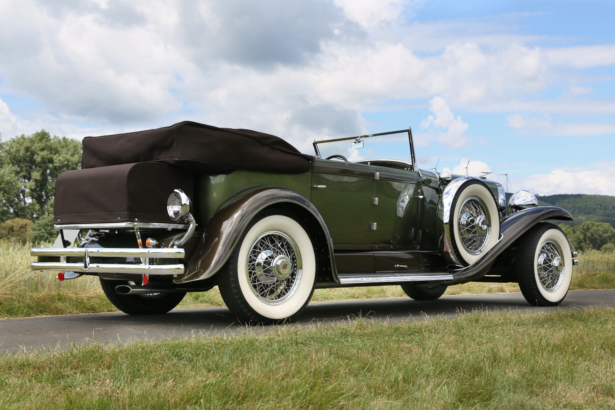 1929 Duesenberg Model SJ Convertible Sedan by Murphy whitewalls
