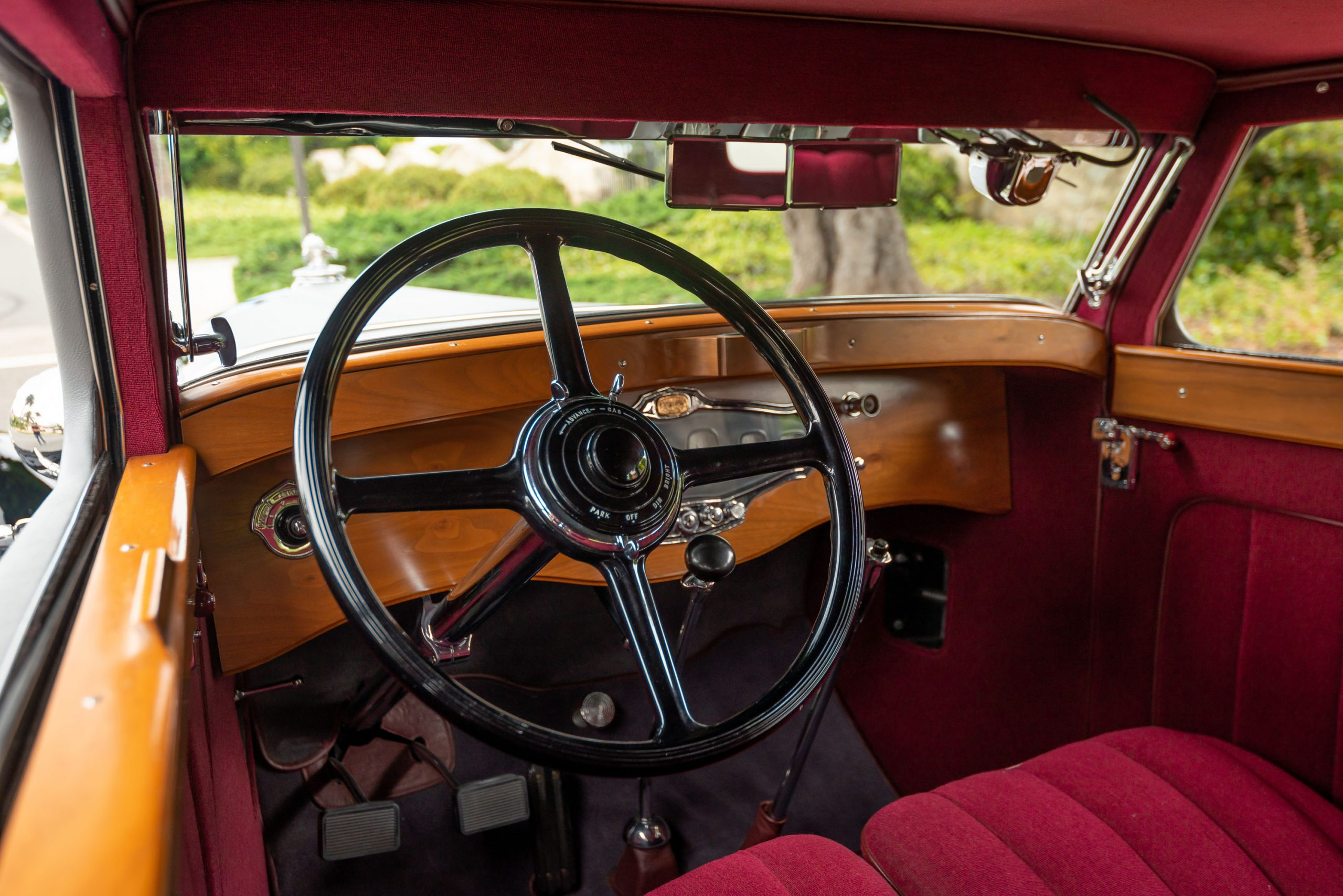 1930 Stutz Model MB Monte Carlo by Weymann interior