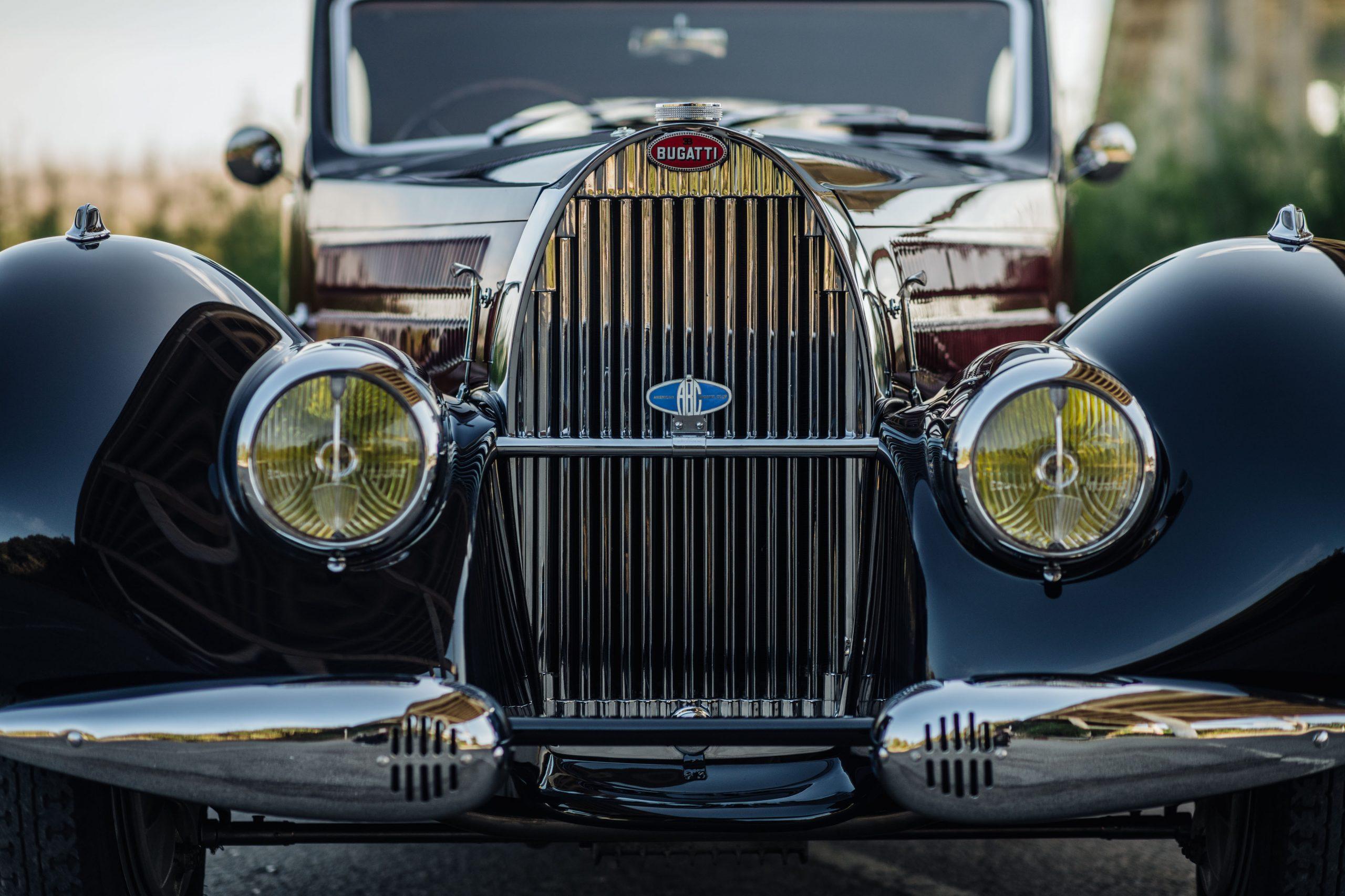 Bugatti 57C Ventoux front close