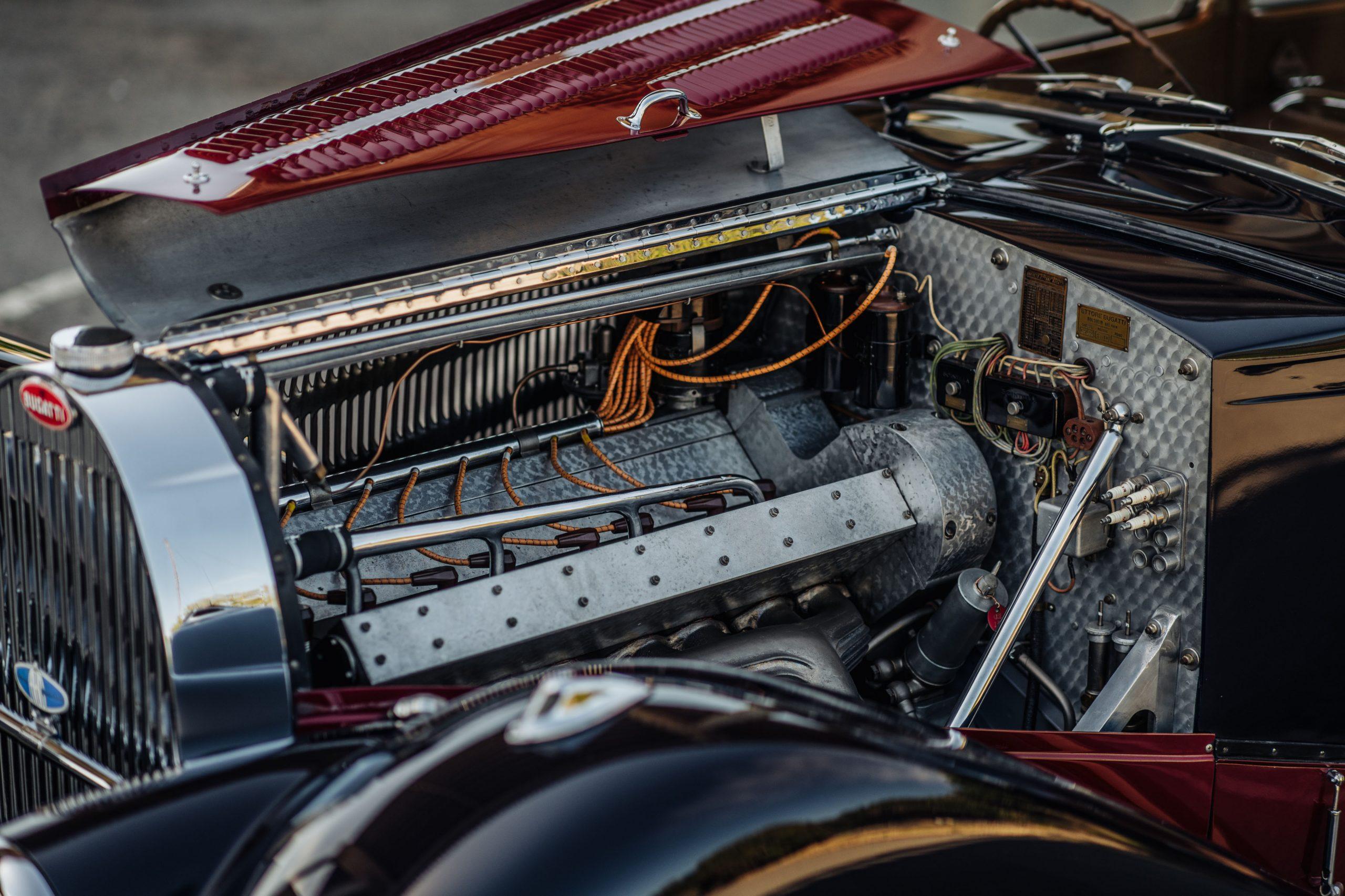 Bugatti 57C Ventoux engine