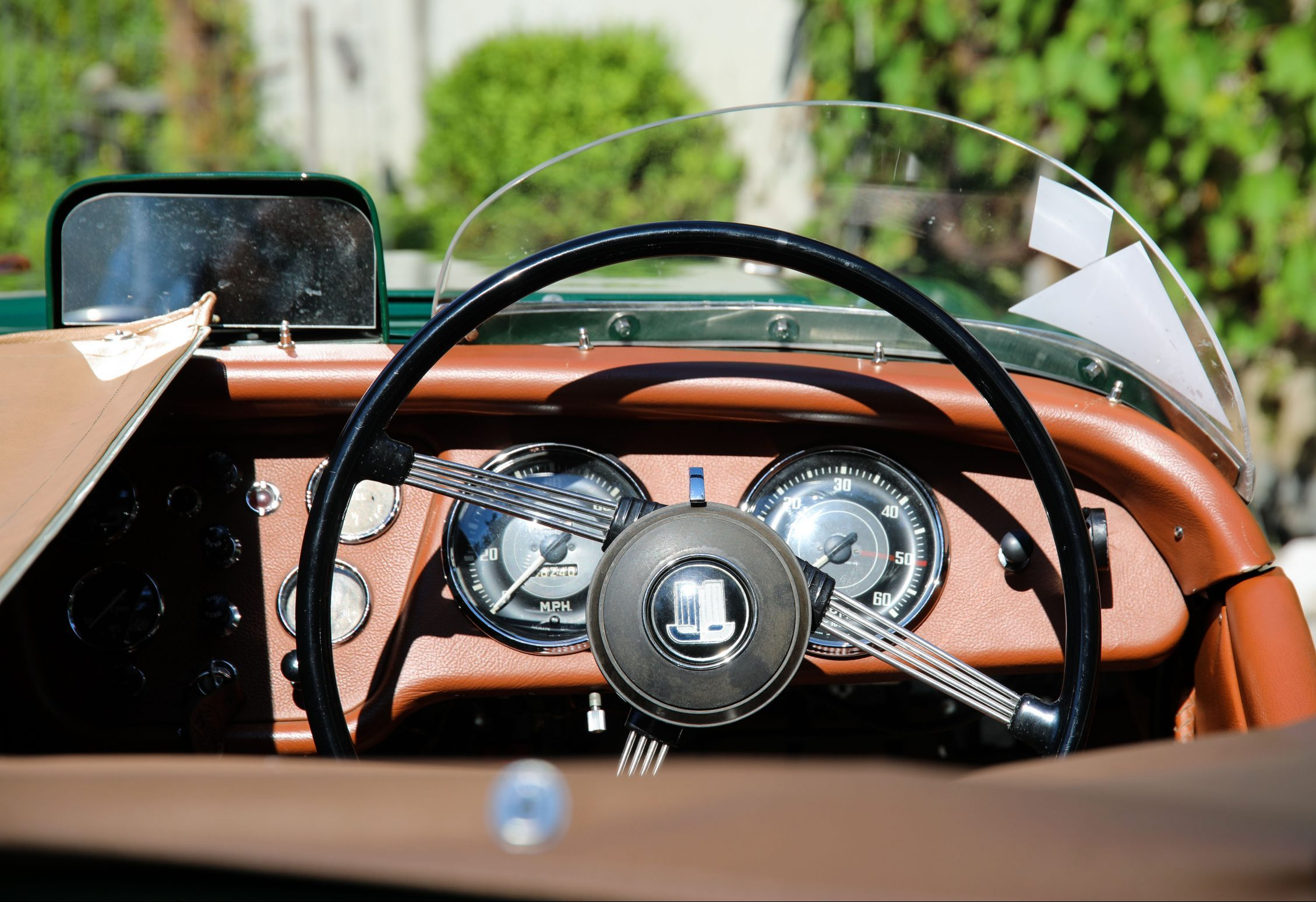 Triumph TR2 Race Car interior cockpit