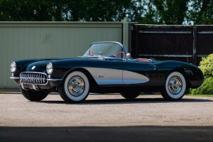 Two Tone Chevrolet Corvette C1 Front Three-Quarter