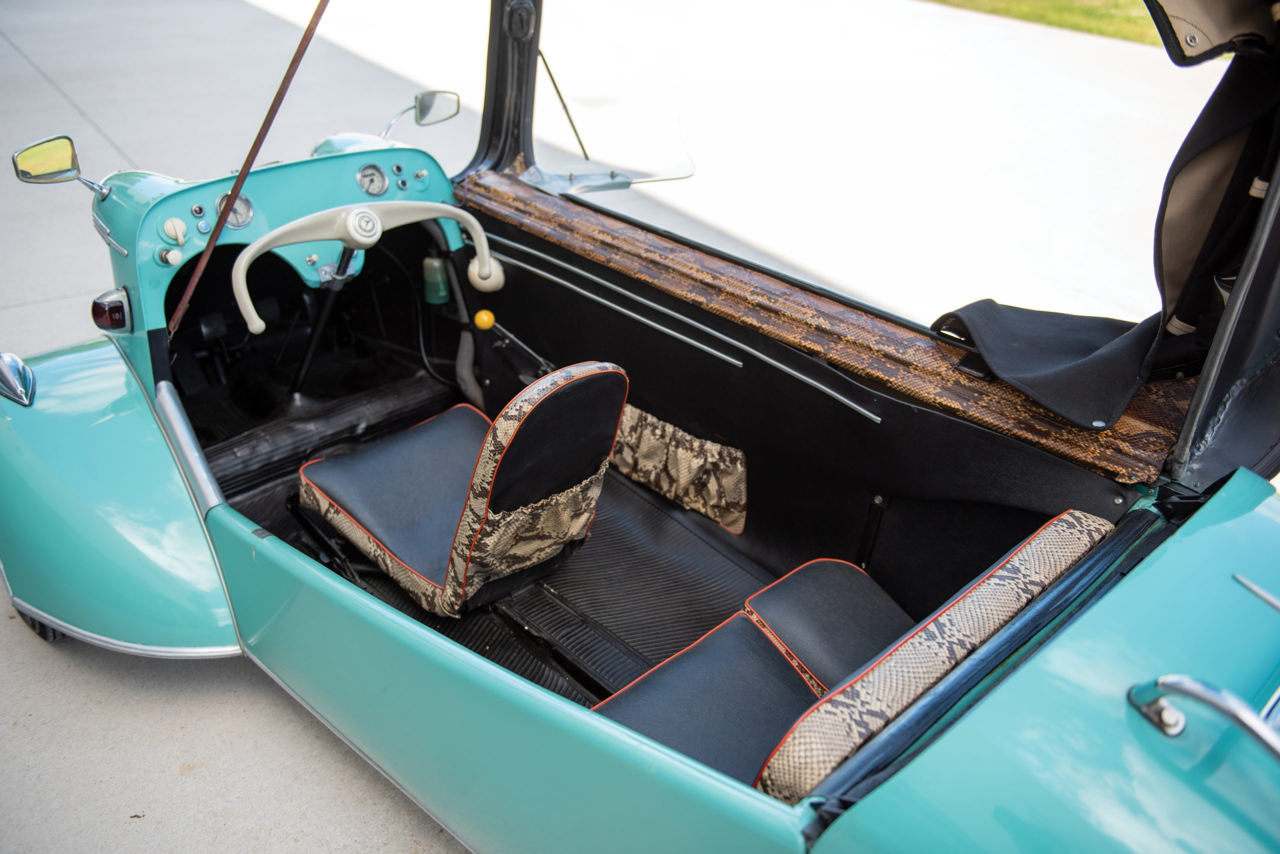1958 Messerschmitt KR 201 Roadster cockpit