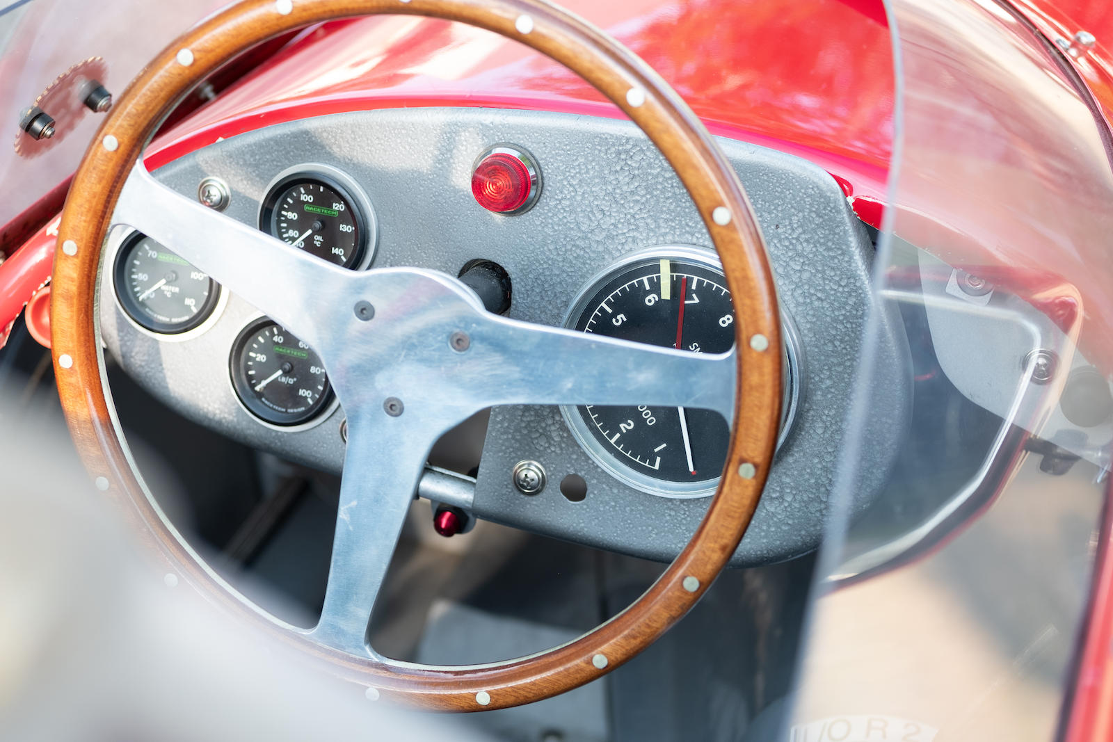 Red Stanguellini Formula JR Monoposto interior steering wheel