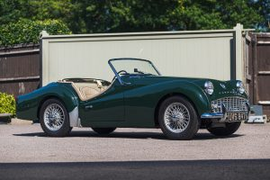 Green Triumph TR3A Front Three-Quarter