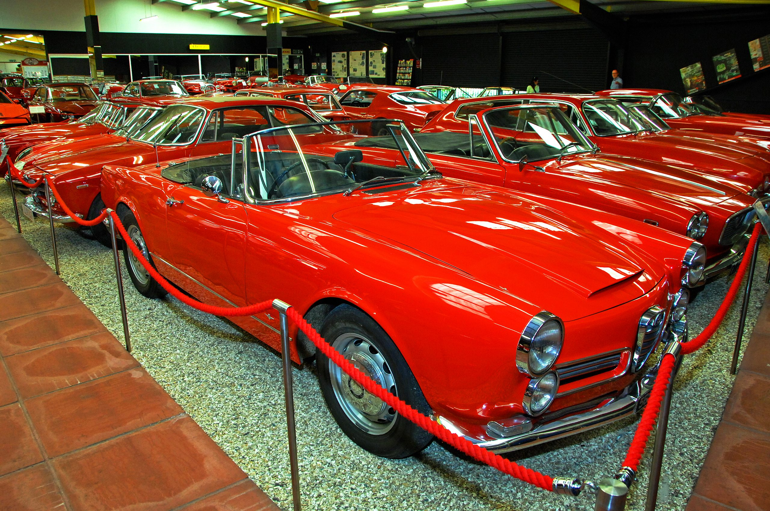 Red Room Alfa Romeo 2600 Spider front three-quarter