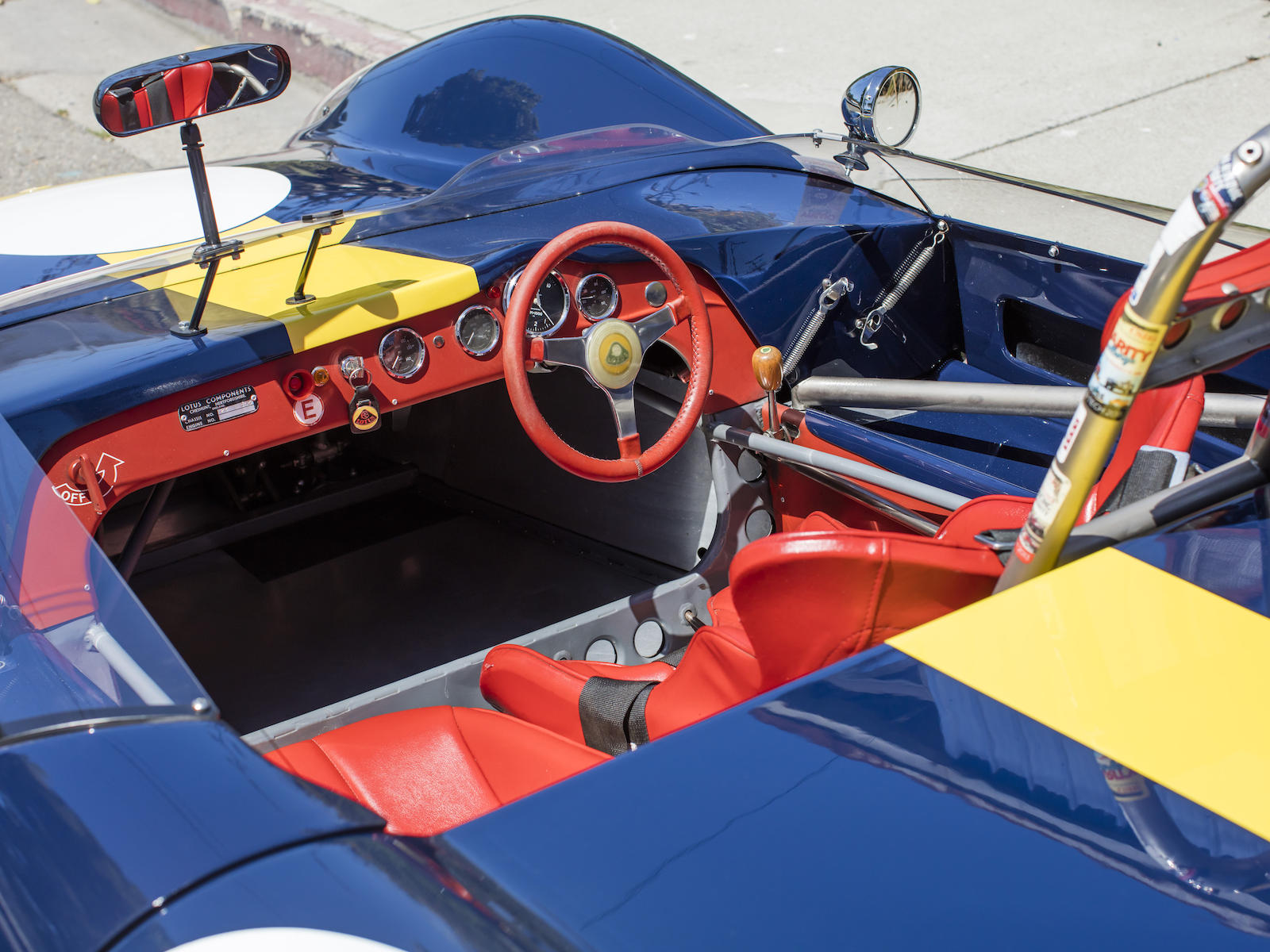 Lotus 23B Race Car cockpit