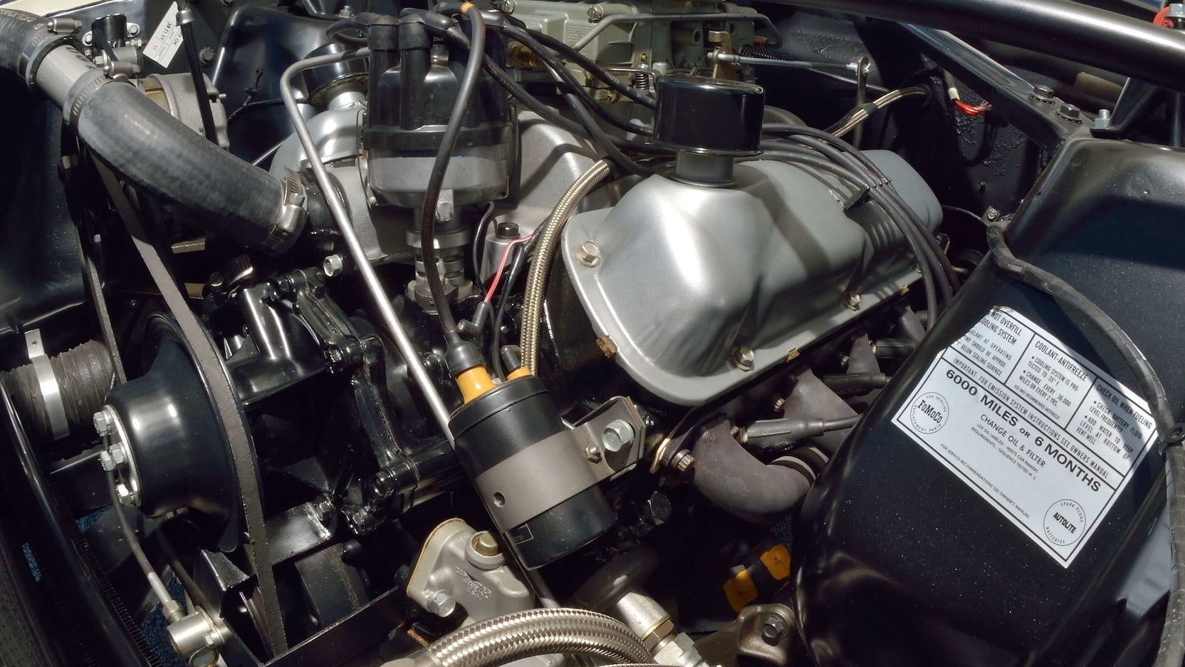1965 Shelby GT350R Prototype Engine Close Up