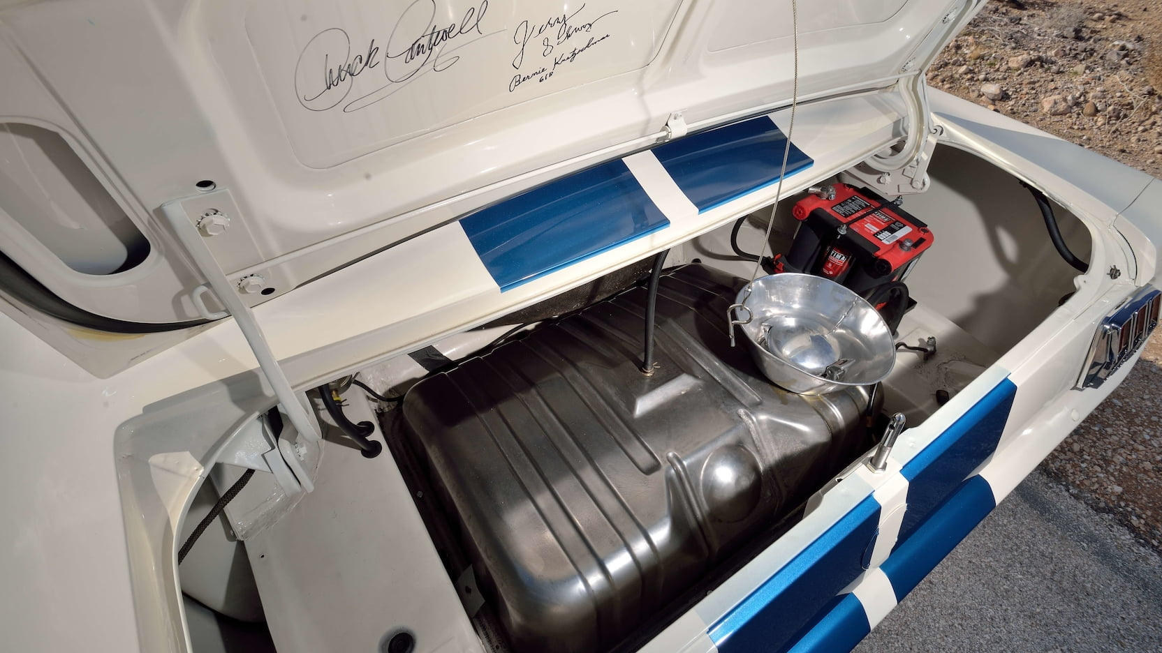1965 Shelby GT350R Prototype Trunk Signature