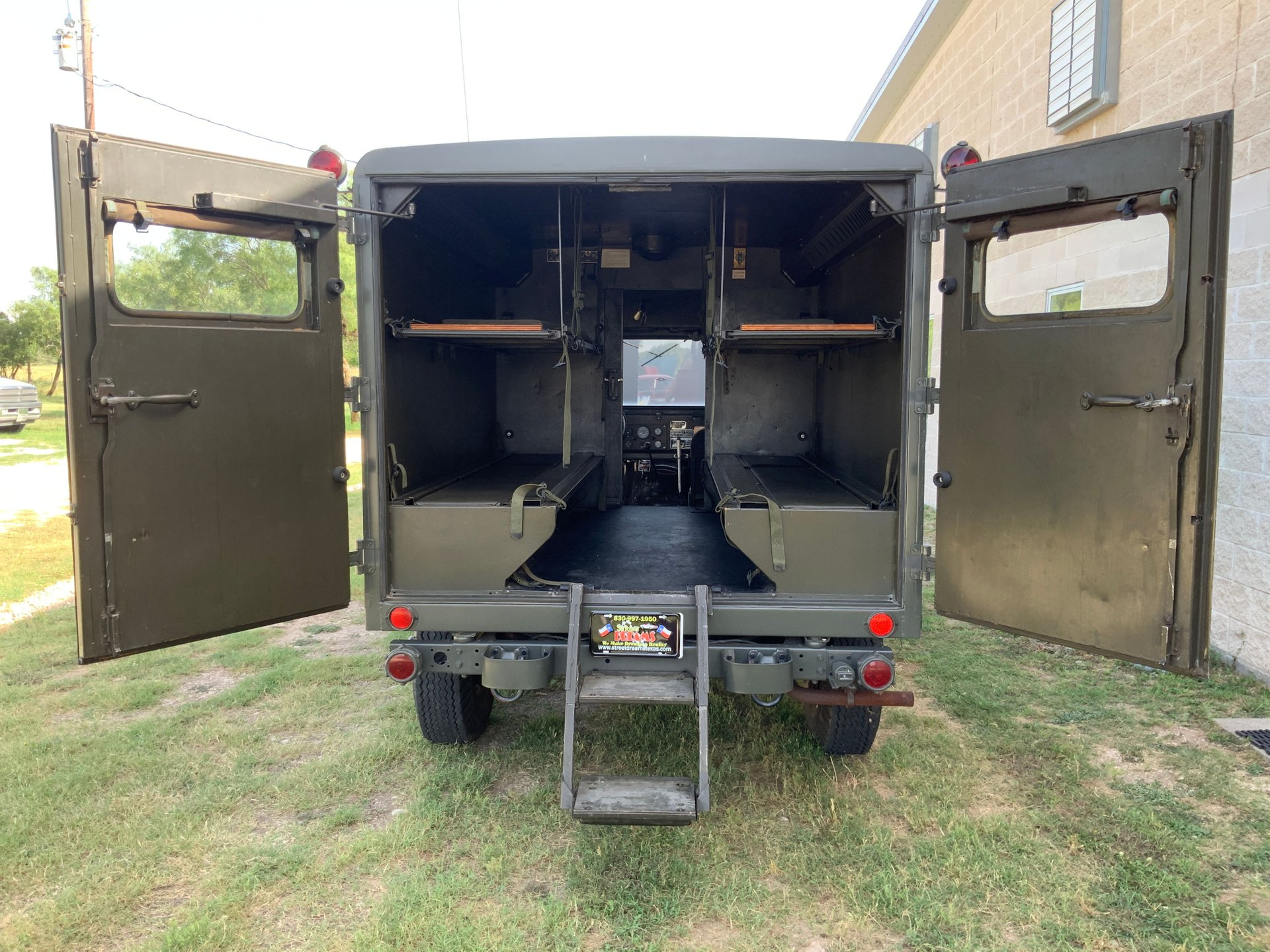 1967 Jeep M725 Ambulance Rear Cargo Open Doors