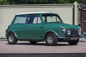 Green Morris Mini Cooper S Front Three-Quarter