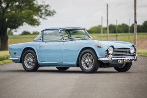 Blue Triumph TR5 Front Three-Quarter