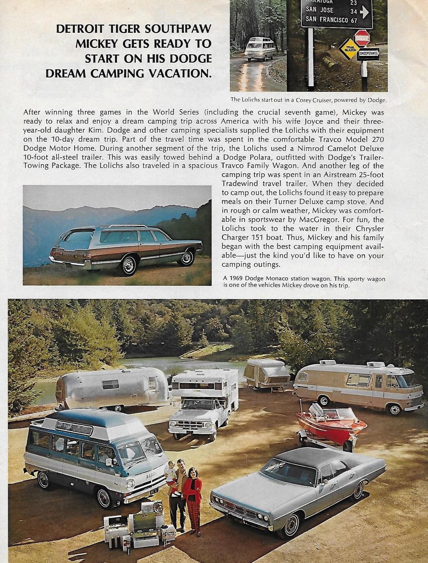 1969 Dodge - Mickey Lolich - Trailblazer Sweepstakes - Page 2