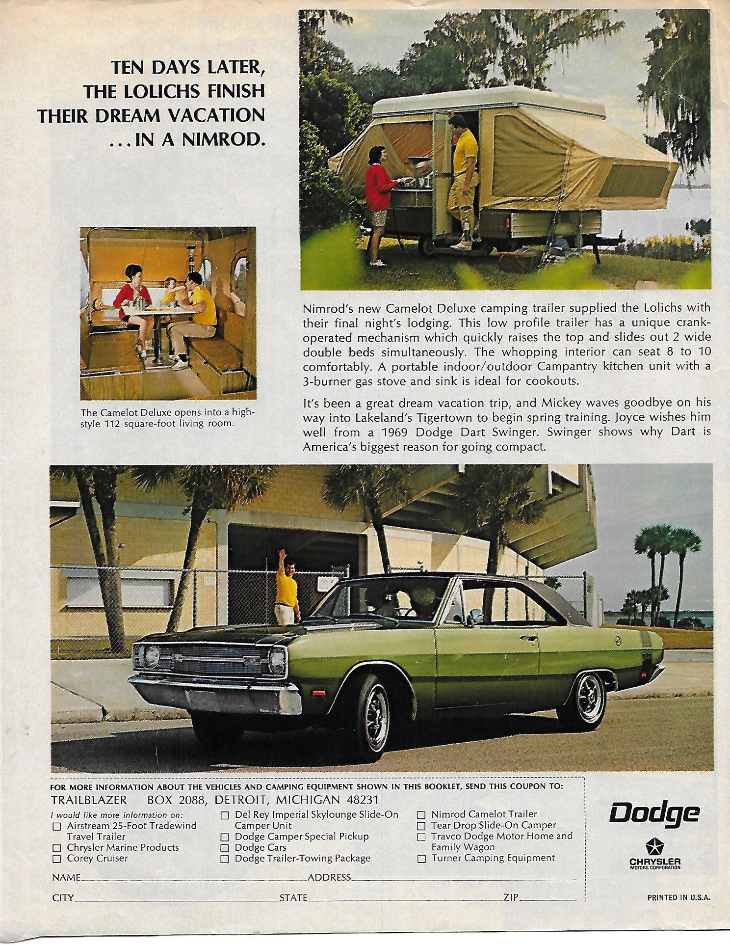 1969 Dodge - Mickey Lolich - Trailblazer Sweepstakes - Page 8
